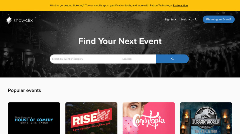 ShowClix Landing Page
