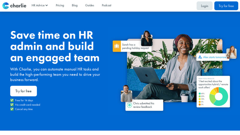 CharlieHR Landing Page