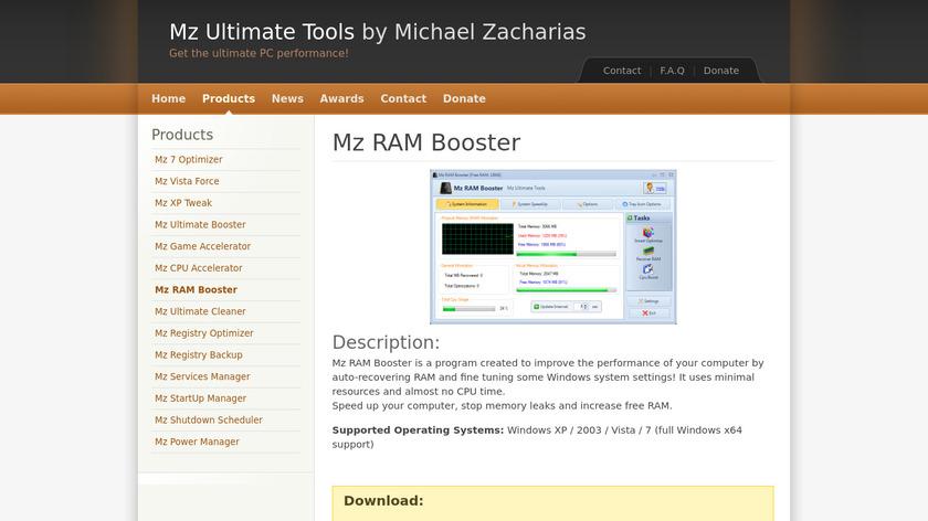 Mz Ram Booster Landing Page