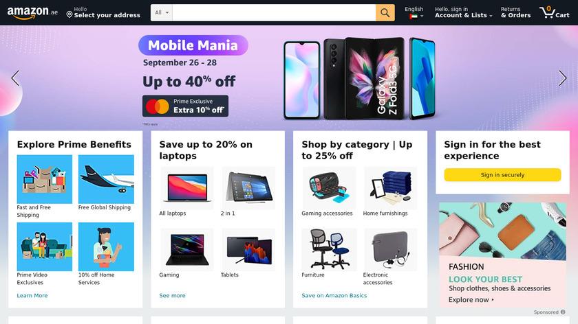 Souq.com Landing Page