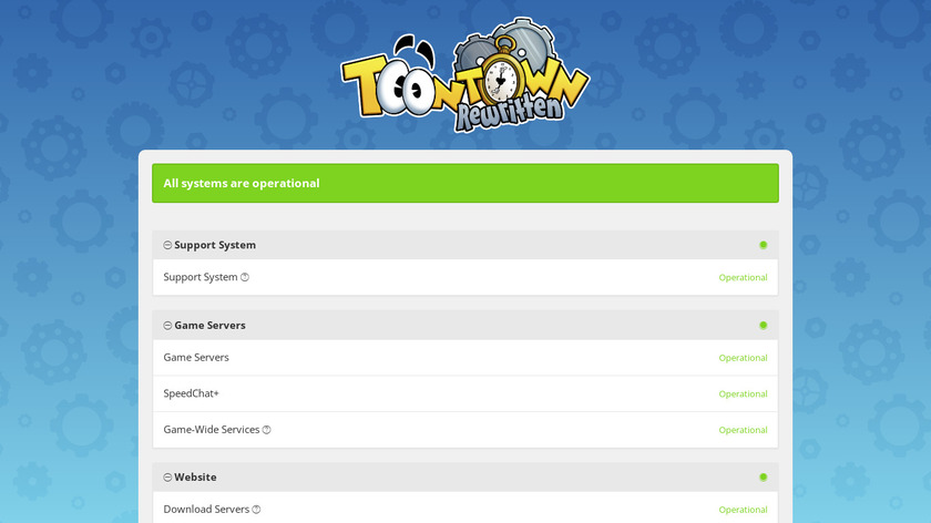 Toontown Rewritten Landing Page