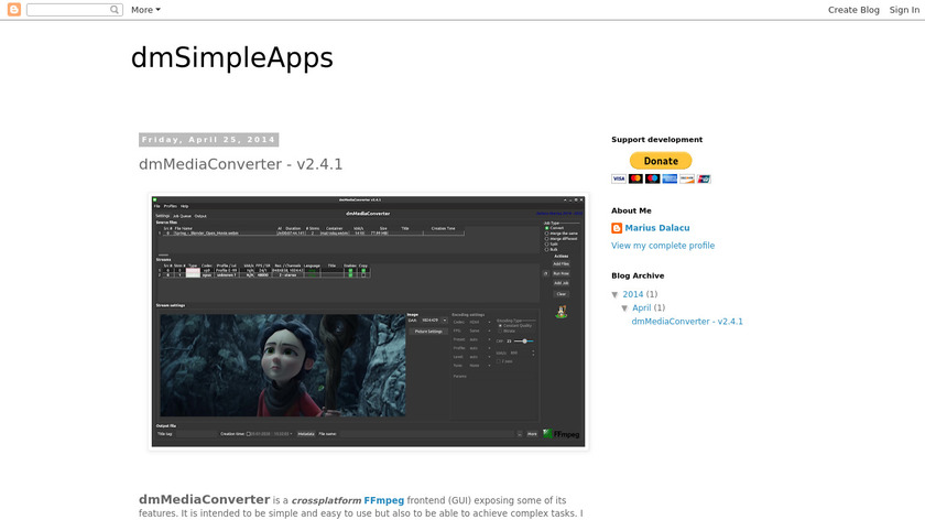 dmMediaConverter Landing Page