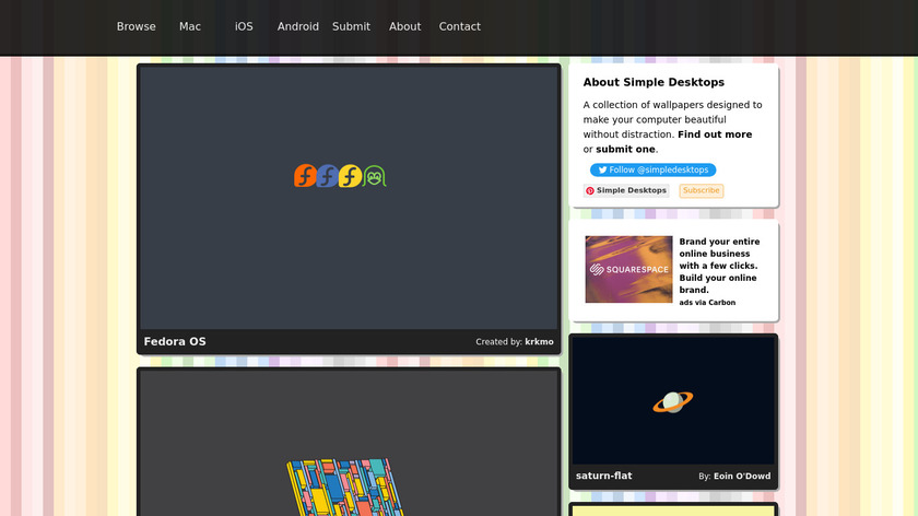 Simple Desktops Landing Page