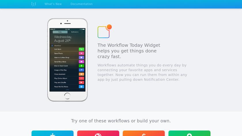 Workflow Today Widget Landing Page