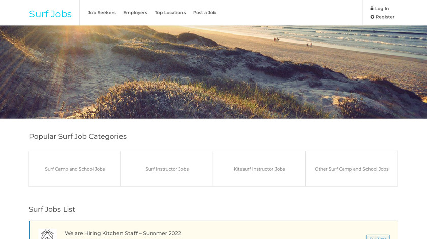 Surf Jobs Landing Page