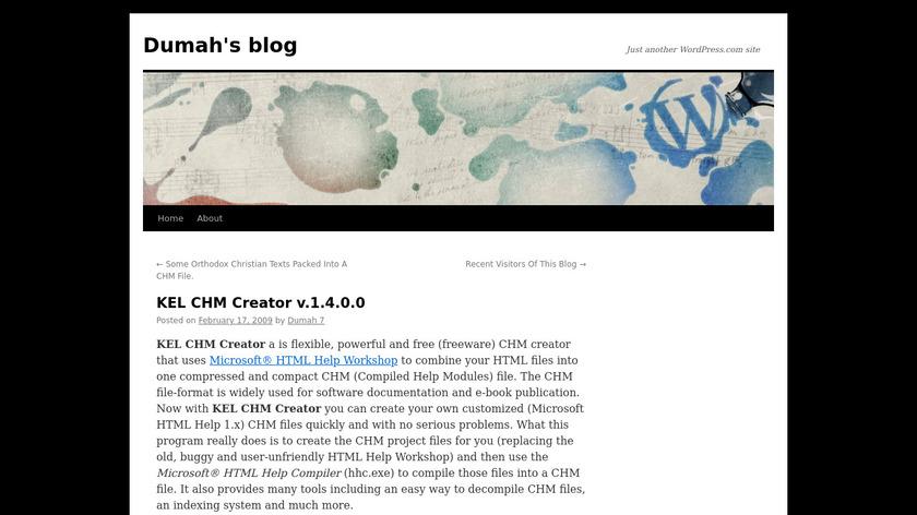 KEL CHM Creator Landing Page