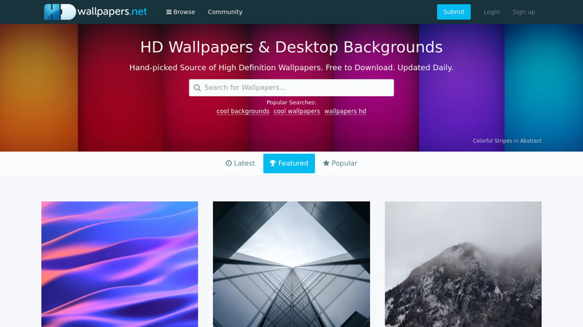 HDwallpapers.net Landing Page