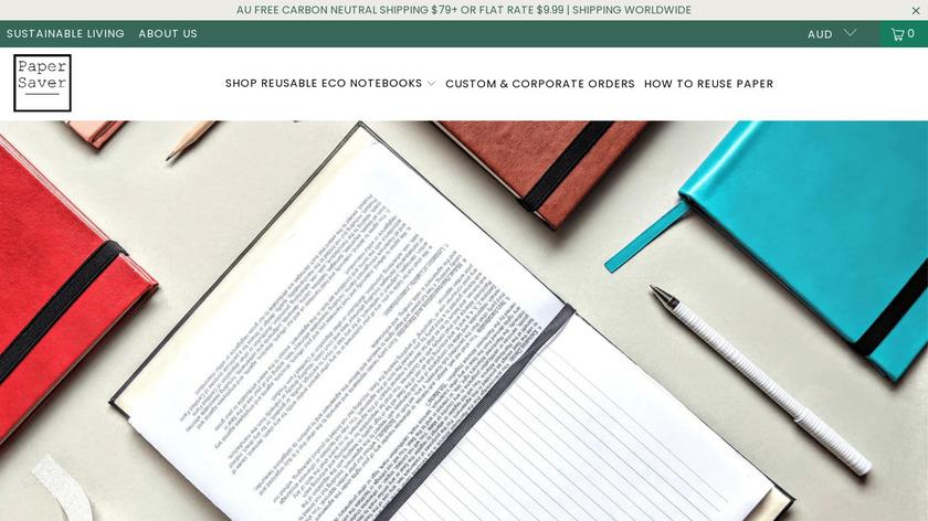 Paper Saver Landing Page