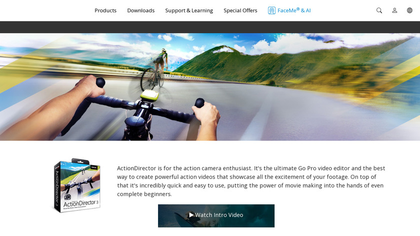 CyberLink ActionDirector Landing Page