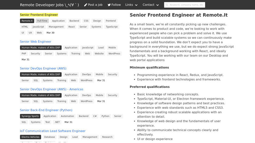 Remote Job Rocks Landing Page