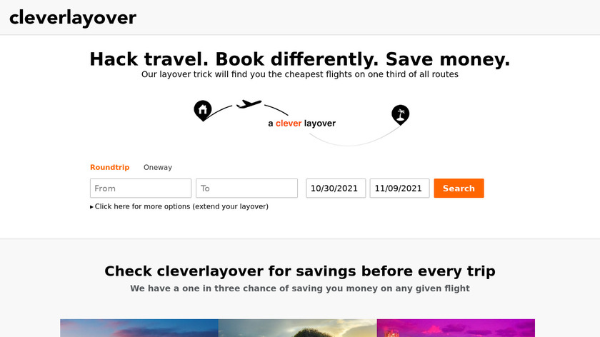 Clever Layover Landing Page