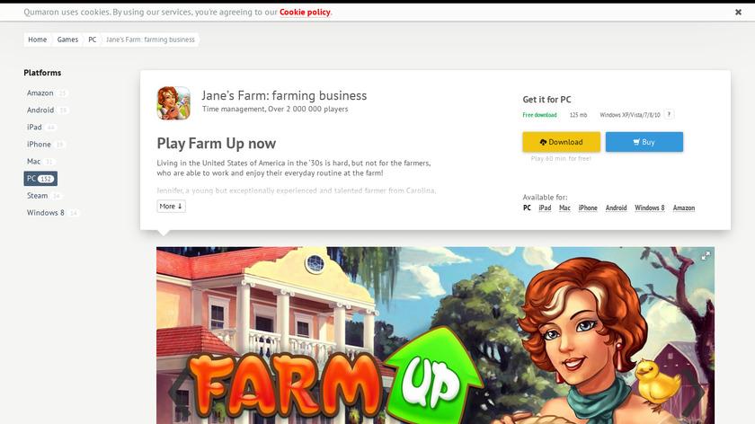 Farm Up Landing Page
