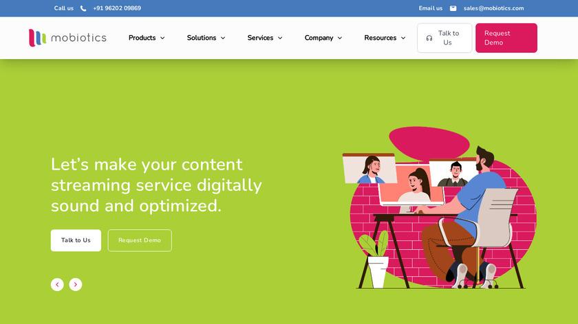 Mobiotics Landing Page