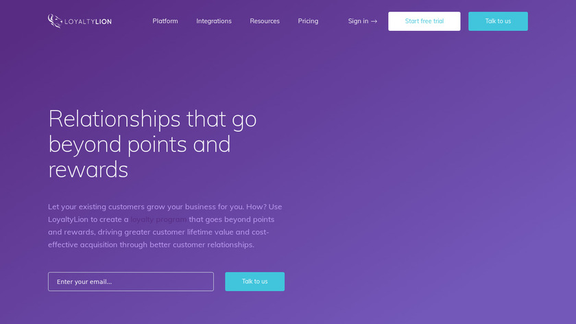 LoyaltyLion Landing Page