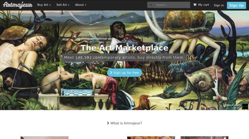 Artmajeur Landing Page