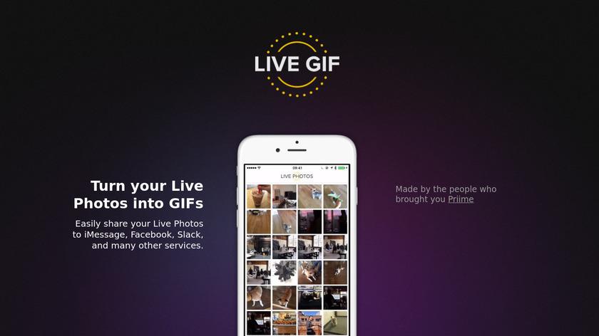 Live GIF Landing Page