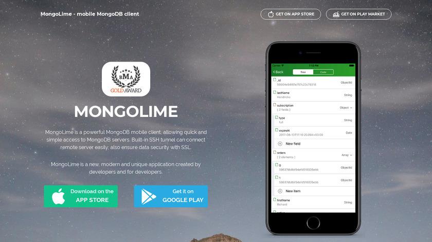 MongoLime Landing Page