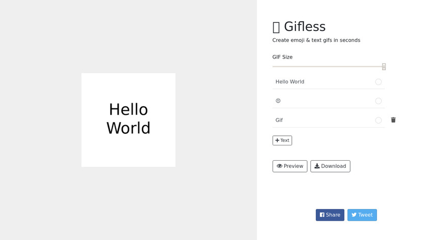 Gifless Landing Page