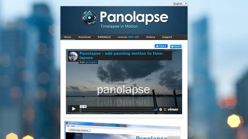 Panolapse Landing Page