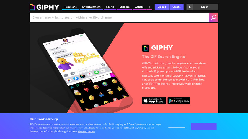GIPHY for iMessage Landing Page