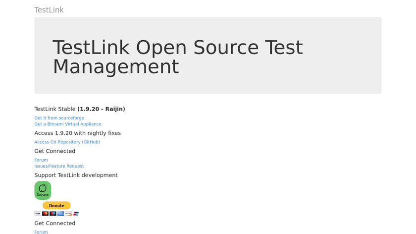 TestLink Landing Page