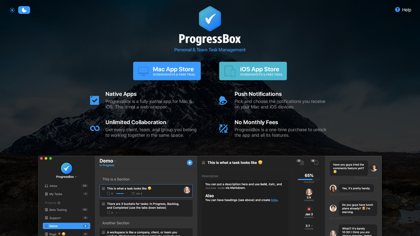 ProgressBox Landing Page