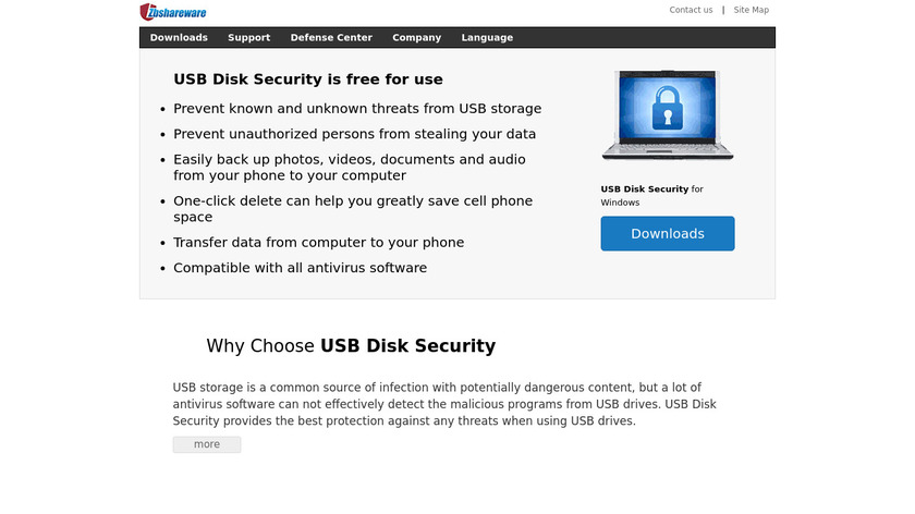 USB Disk Security Landing Page