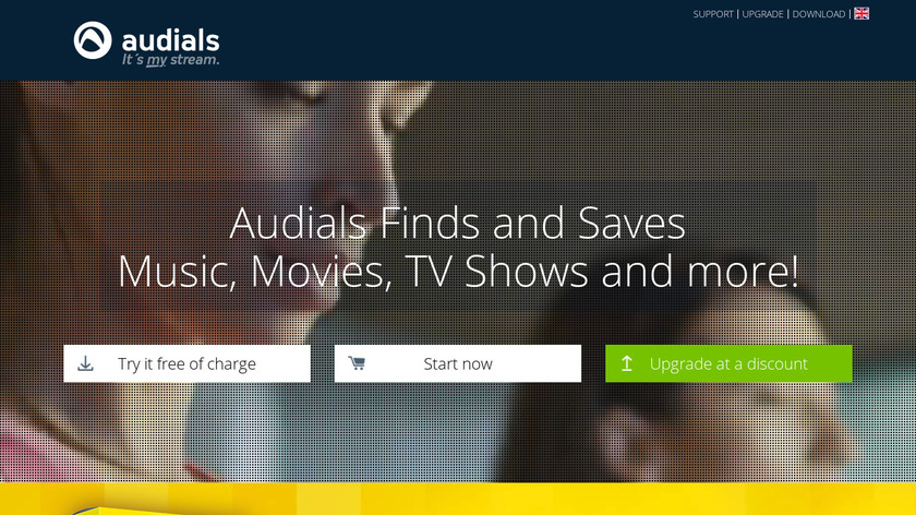 Audials Landing Page