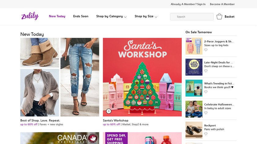 zulily Landing Page