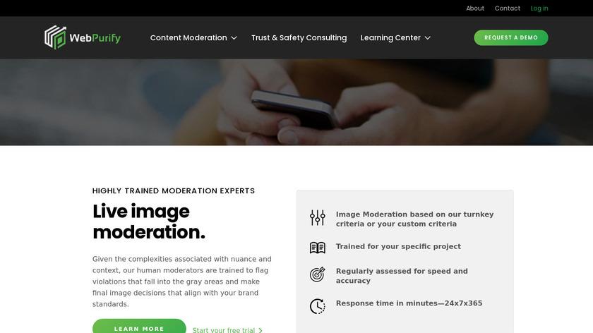 WebPurify Landing Page