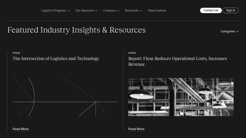 FLEXE Next Day Delivery Landing Page