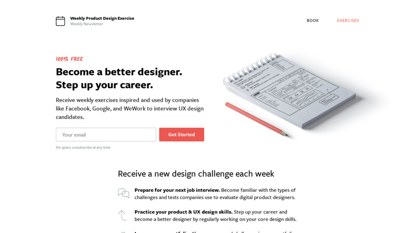 Weekly UX Exercise Landing Page
