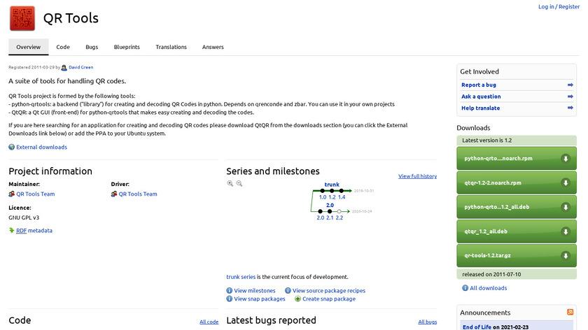 QtQR Landing Page