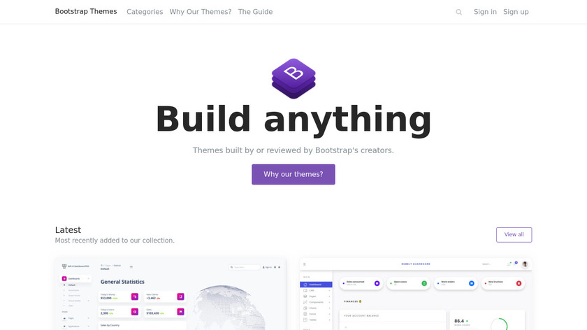Bootstrap Themes Landing Page