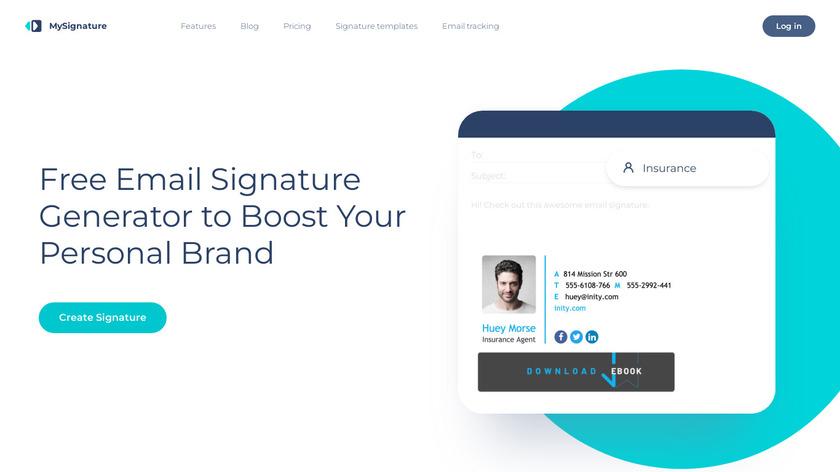 MySignature Landing Page