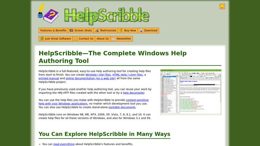 HelpScribble Landing Page