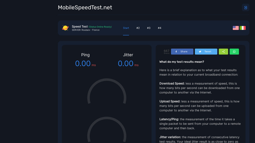 Mobile Speed Test Landing Page