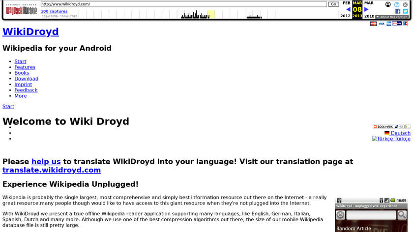 WikiDroyd Landing Page