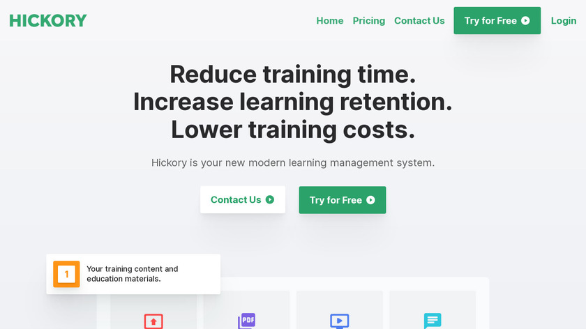 Hickory Landing Page