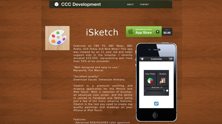 iSketch Landing Page