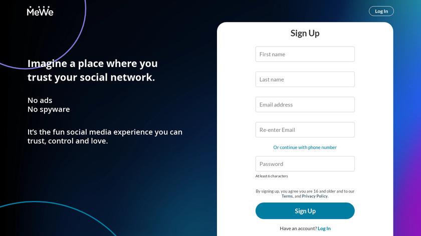 MeWe Landing Page