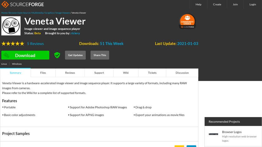 Veneta Viewer Landing Page