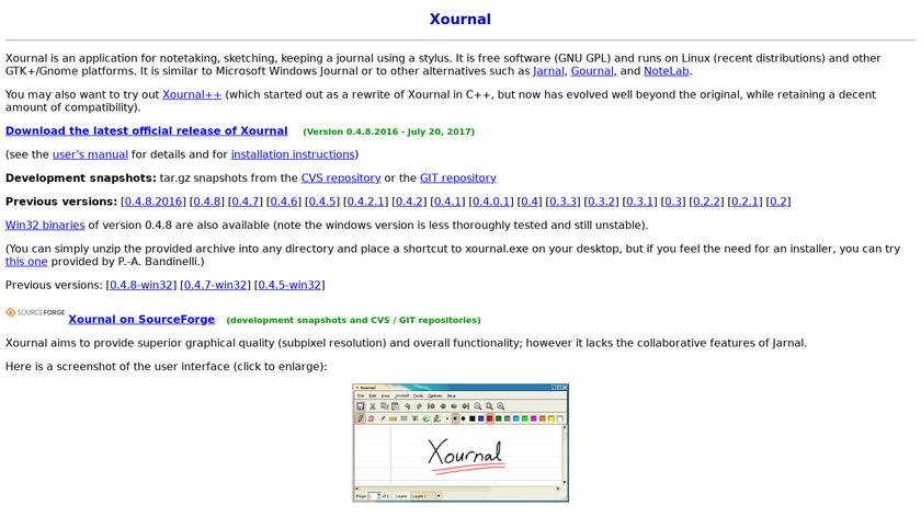xournal Landing Page