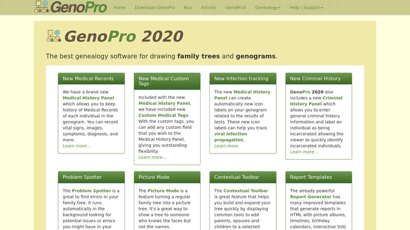 GenoPro Landing Page