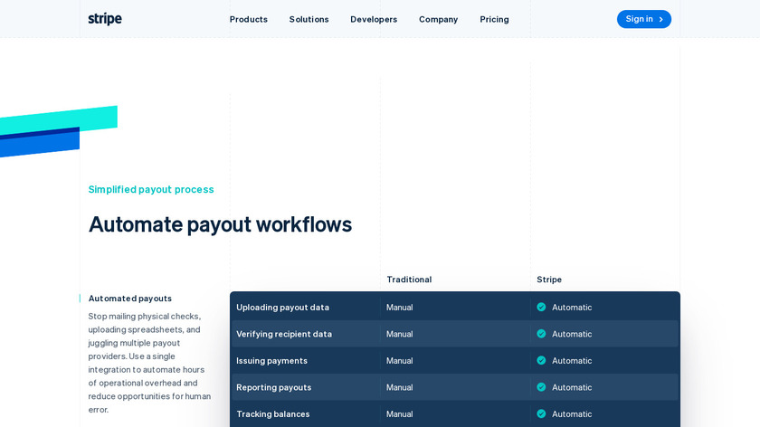 Connect Payouts by Stripe Landing Page