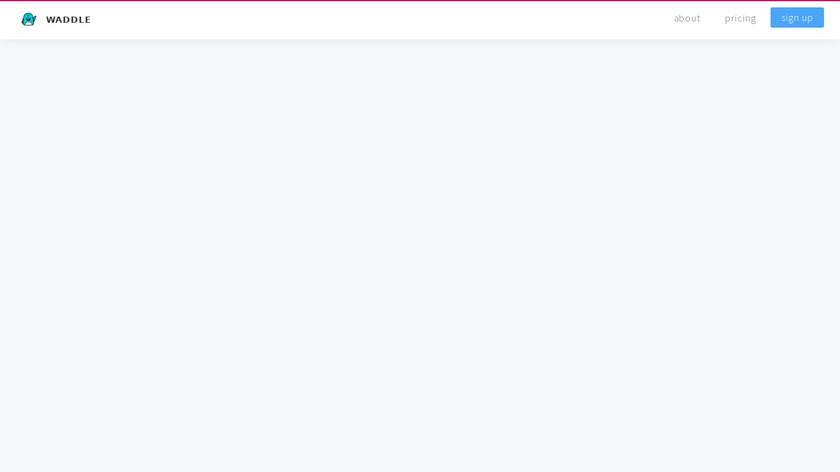 Waddle Photos Landing Page