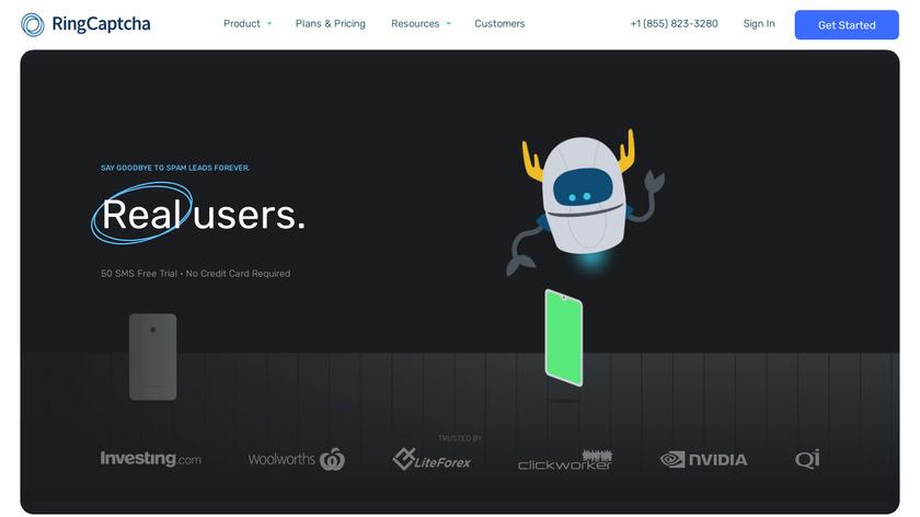 RingCaptcha Landing Page