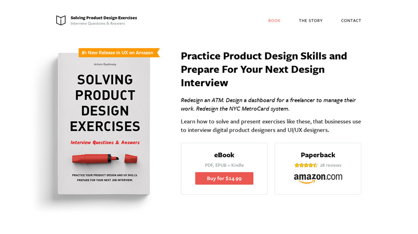 Solving Product Design Exercises Landing Page