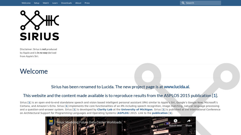 Sirius Landing Page
