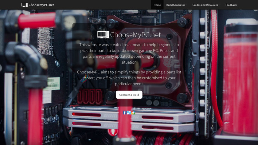 ChooseMyPC Landing Page
